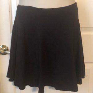 Black Mini Skater Circle Skirt Charlotte Russe